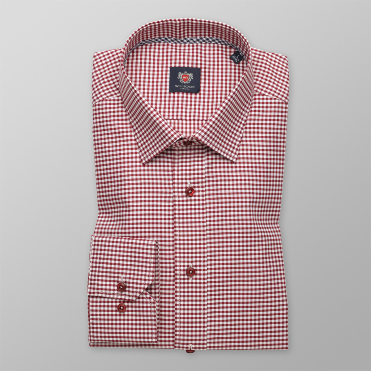 Košile London vzor gingham (výška 176-182) 9929 176-182 / M (39/40)