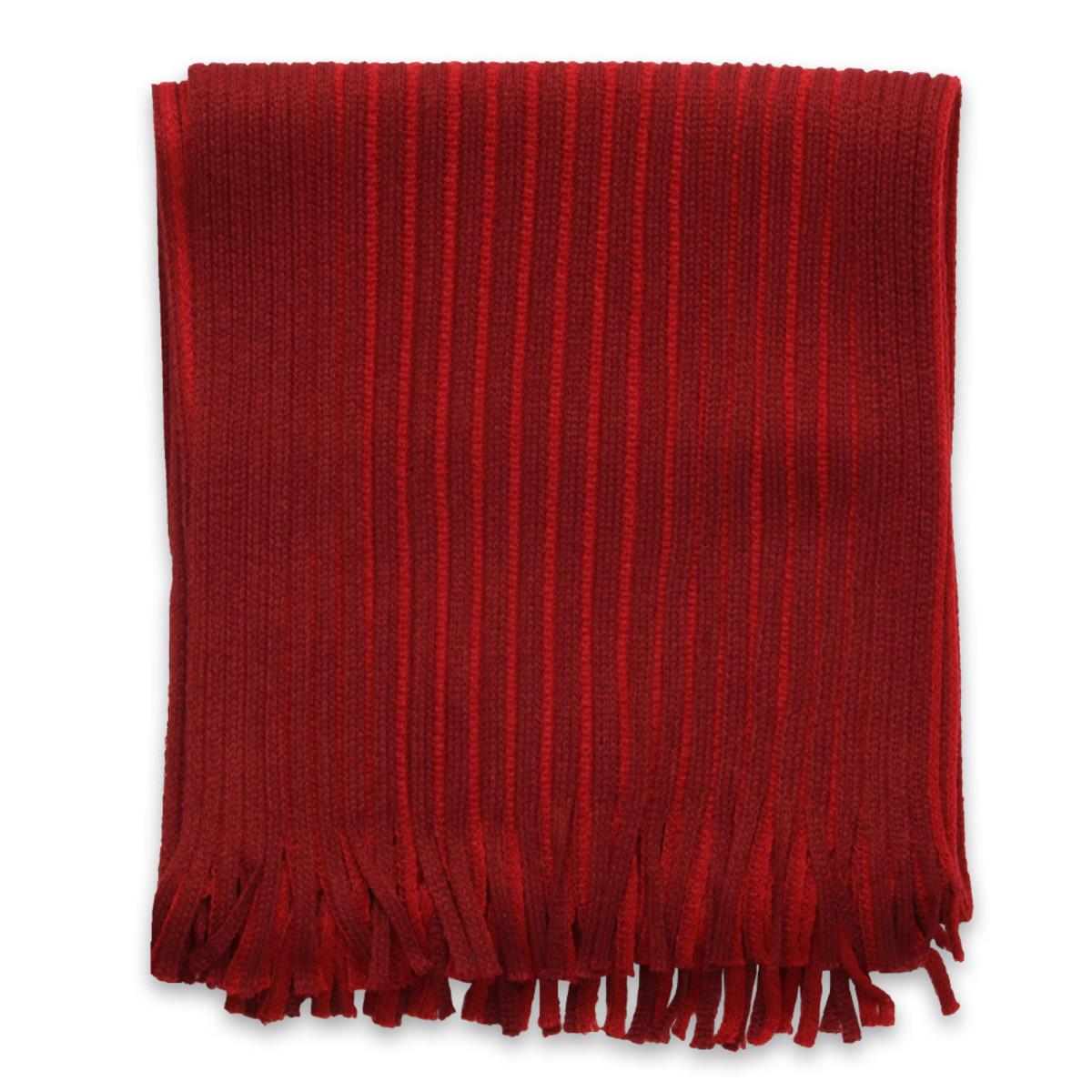 050021b87f0 Šála bordó-červené barvy s proužkem 9963 - Willsoor