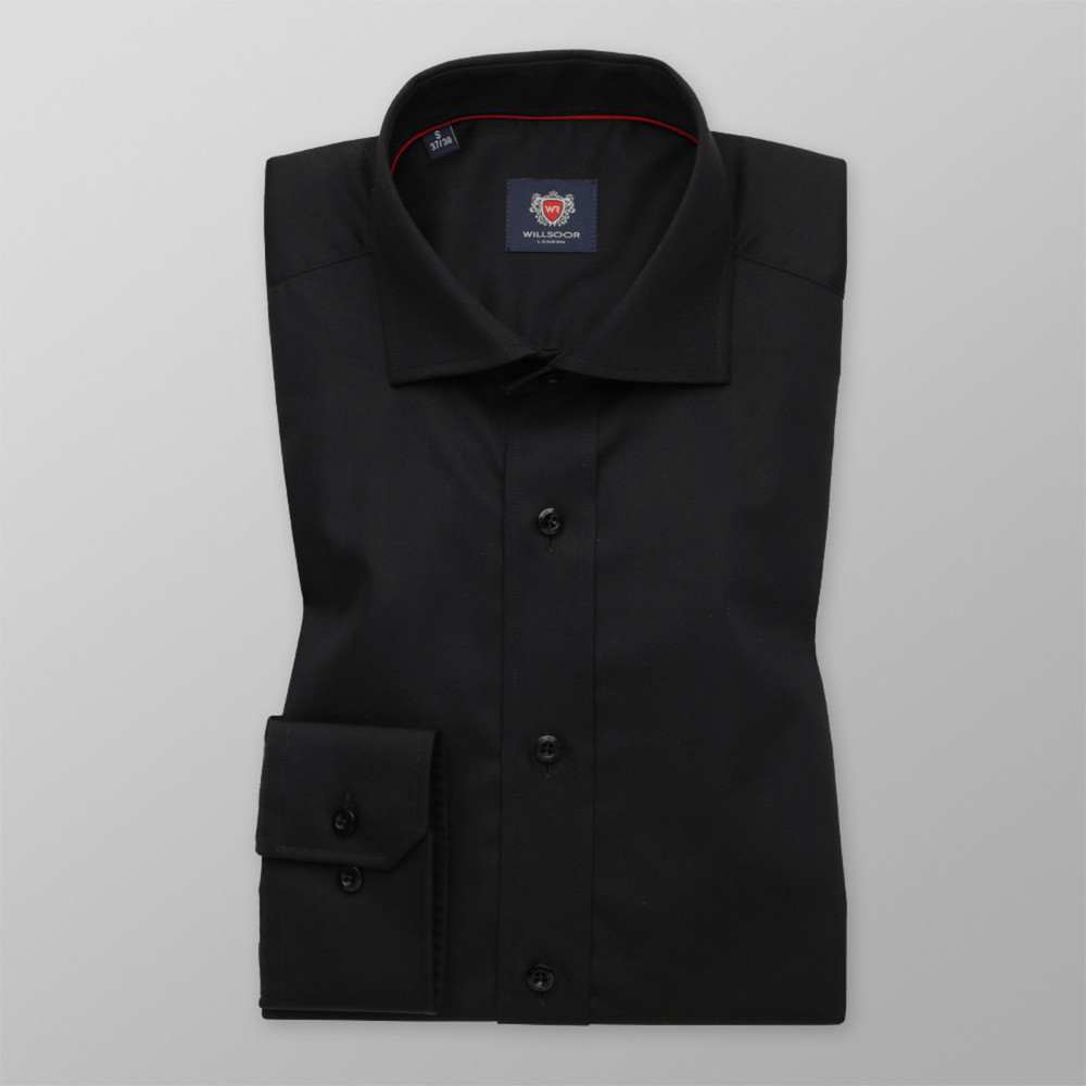 fcf4b9b6c65 Košile London černá barva (výška 176-182) 10191 - Willsoor