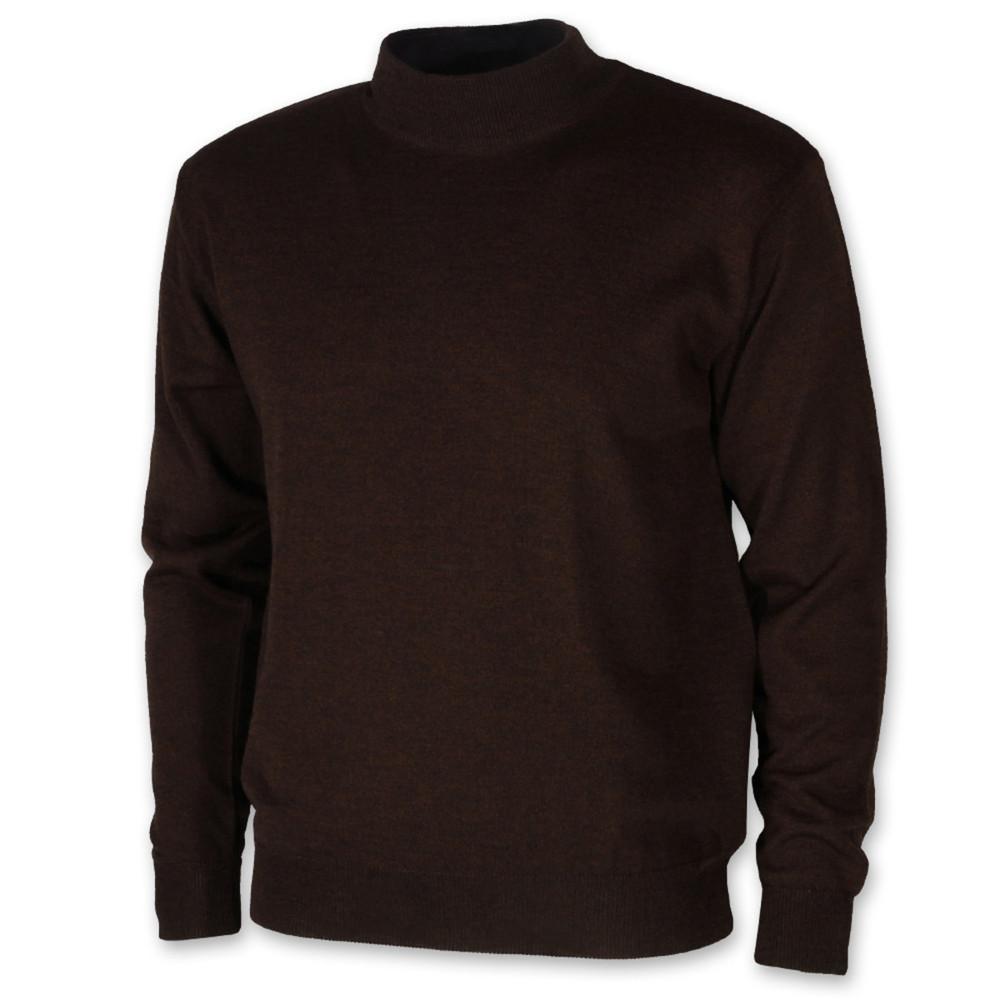 Pánský svetr s rolákem hnědý 10270 - Willsoor 8936d8dff2
