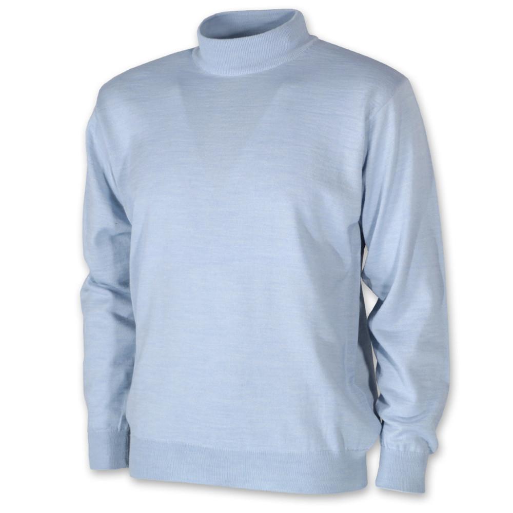 Pánský svetr s rolákem bledě modrý 10271 - Willsoor cd14113d1d