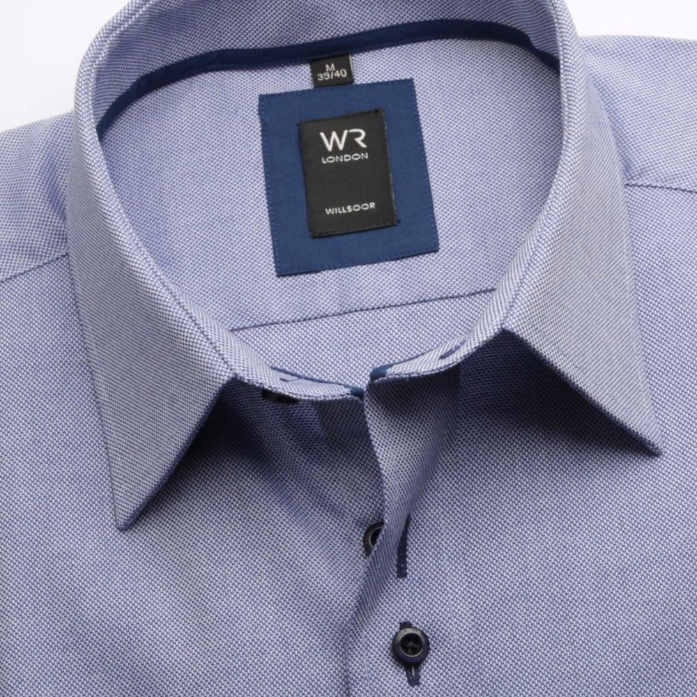 Pánská košile WR London v modré barvě (výška 176-182) 4489 - Willsoor 5199abe7b7