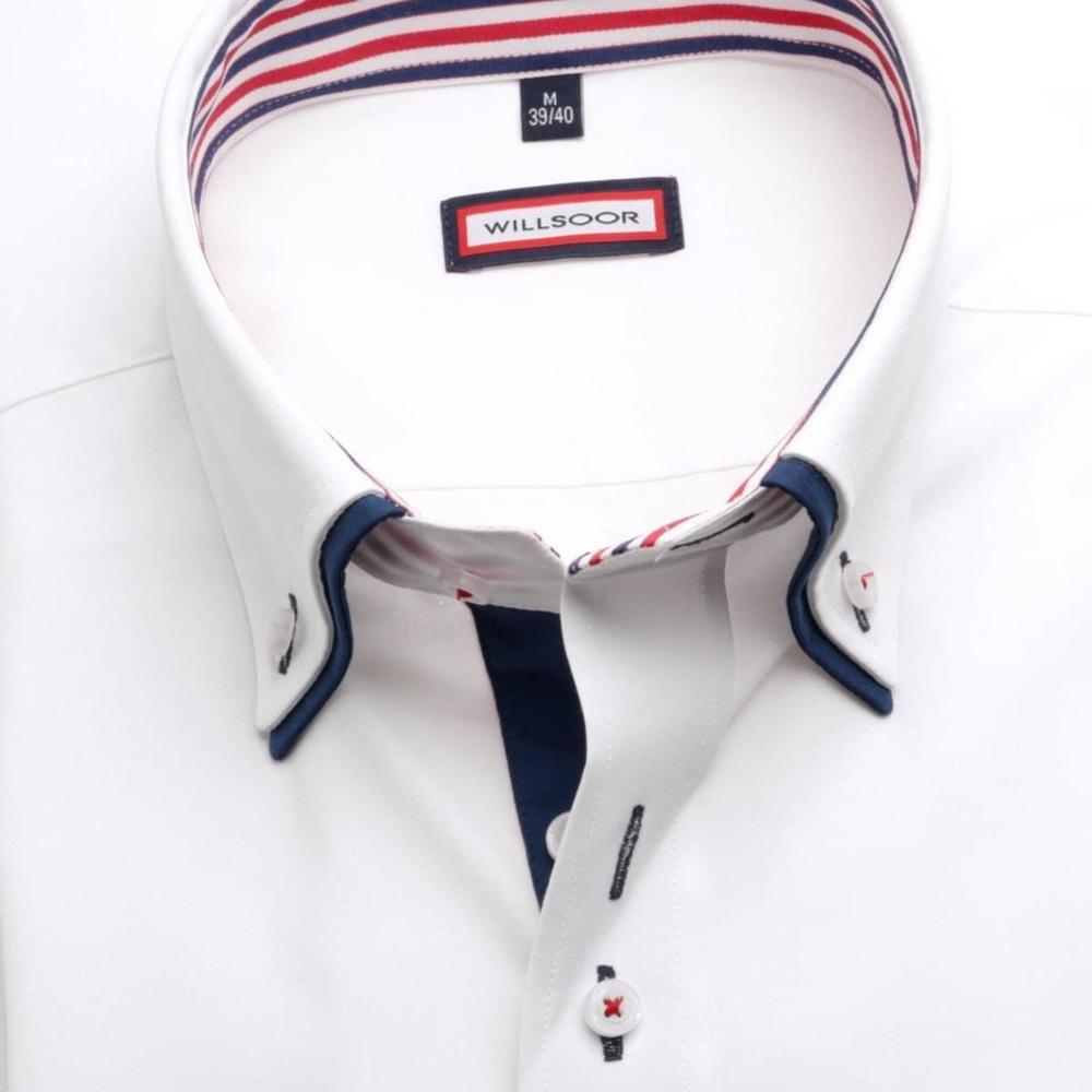 Pánská košile Slim Fit v bílé barvě (výška 164-170) 5461 - Willsoor d2cc11117d