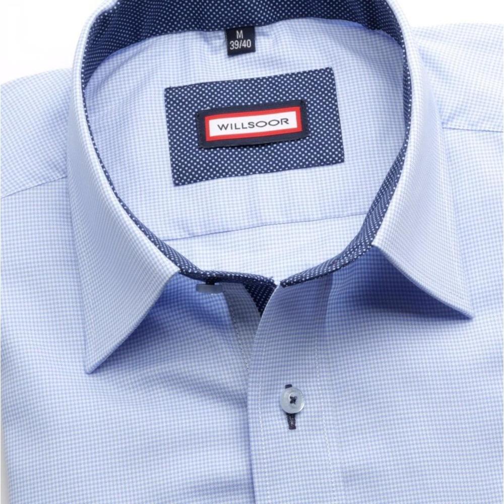 Pánská košile Slim Fit (výška 164-170) 5792 v modré barvě - Willsoor 6a6ec0143b