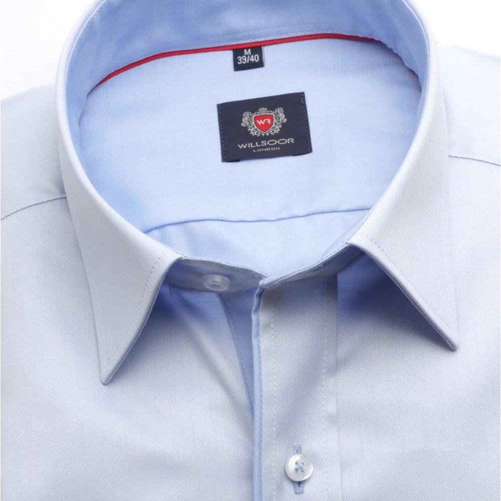 Pánská slim fit košile London (výška 176-182) 6854 v modré barvě s ... 0c6604947c
