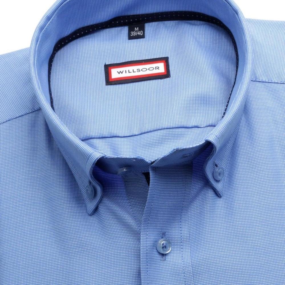 Pánská slim fit košile (výška 176-182) 6983 ve světle modré barvě s ... 2bbbf9bc36