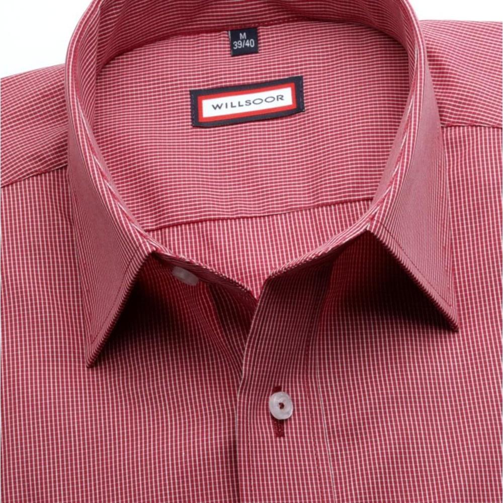 8423b3a93a8 Pánská klasická košile (výška 176-182) 7491 v bordó barvě s kostičkou