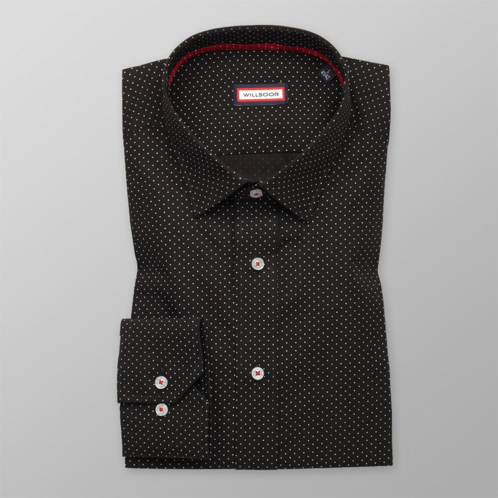 fac5ebacd38 Košile Slim Fit černá (výška 164-170) 9708 - Willsoor