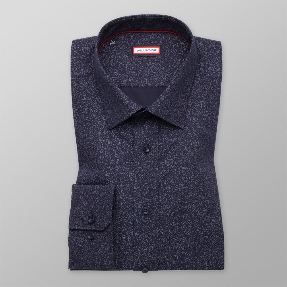 c5f3b2943e2 Pánská košile slim fit tmavě modrá (výška 176-182) 9995 - Willsoor
