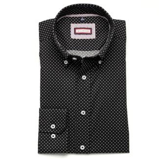 ... Pánská slim fit košile (výška 176-182) 6362 v černé barvě s límečkem ... 107614e14c