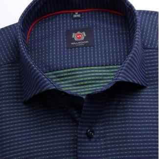 Pánská slim fit košile London (výška 176-182) 6999 v modré barvě s 713446c370