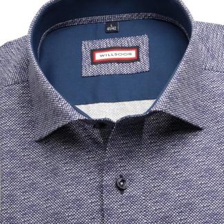 Pánská slim fit košile London (výška 176-182) 6998 v grafitové barvě ... 88a43c1ee6