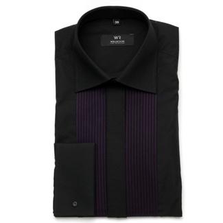 1c3c92b0c75 Pánská smokinková košile Fine Selection (výška 176-182) 7524 v černé barvě