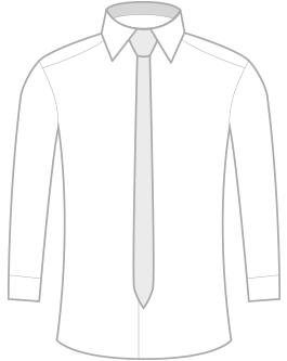 Úzká kravata z mikrovlákna